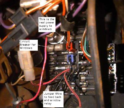 Power Windoze Page | 1980 Camaro Fuse Panel Diagram |  | Hoghead's Firebird and Trans Am Parts